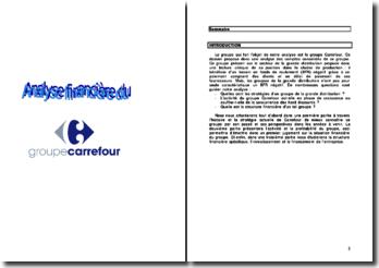 Analyse financière du groupe Carrefour