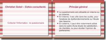 Collecter l'information : le questionnaire