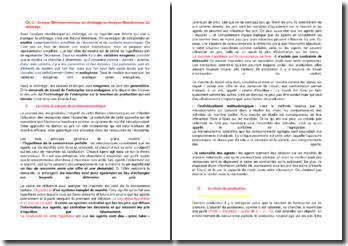 Analyse Microéconomique du chômage ou Analyse Néoclassique du chômage