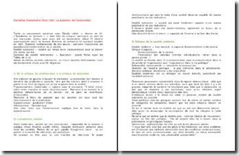 La question de l'autonomie Cornelius - Castoriadis, 1922-1997