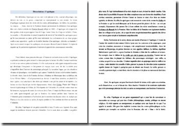 Dissertation sur les apologues