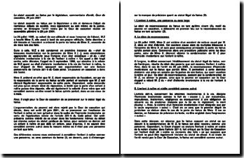 Commentaire d'arrêt de l'Assemblée plénière de la Cour de Cassation du 29 juin 2001 : le statut légal du foetus