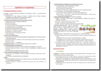 Applications en oncogénétique