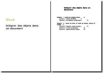 Word : Intégrer des objets dans un document