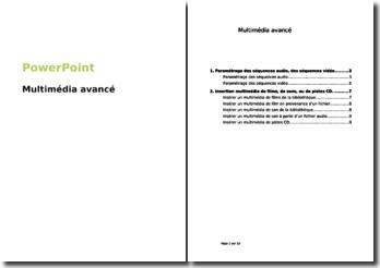 PowerPoint : Multimédia avancé