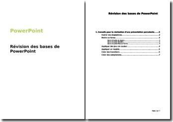 PowerPoint : Révision des bases de PowerPoint