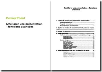 PowerPoint : Améliorer une présentation - fonctions avancées