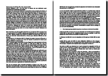 Commentaire d'arrêt de la Première Chambre civile de la Cour de cassation du 5 janvier 2012 : le divorce pour altération définitive du lien conjugal