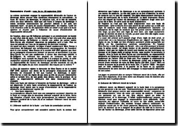 Commentaire d'arrêt de la Deuxième Chambre civile de la Cour de cassation du 23 septembre 2004 : la faute sportive et l'absence de cause d'exonération de responsabilité délictuelle
