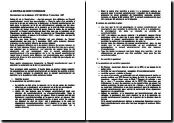 Commentaire de la décision n 97-392 DC du 7 novembre 1997
