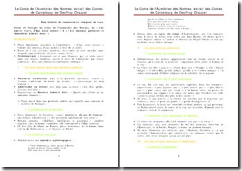 Etude de l'incipit du conte de l'Aumônier des Nonnes, extrait des Contes de Canterbury de Geoffroy Chaucer