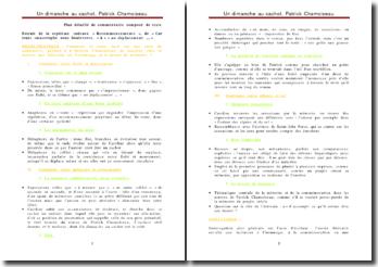 Un dimanche au cachot - Patrick Chamoiseau (plan détaillé)