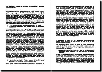 Fiche d'actualité : Etienne de La Boétie, Le discours de la servitude volontaire