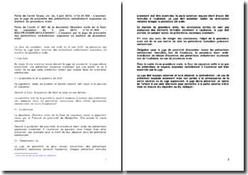 Fiche de l'arrêt de la Deuxième Chambre civile de la Cour de cassation du 6 juin 2013 : l'office du juge dans l'examen des prétentions verbalement exposées