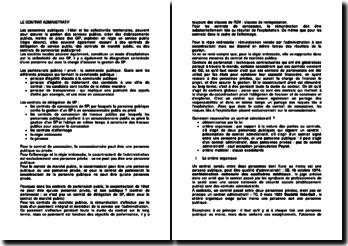 Le contrat administratif