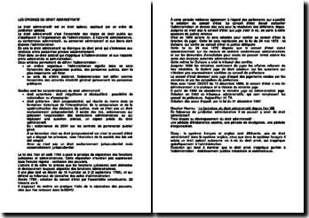 Les origines du droit administratif