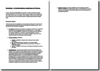 Sociologie : le fonctionnalisme systémique de Parsons