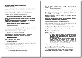 Les outils de base de l'analyse transactionnelle - Dominique Chalvin
