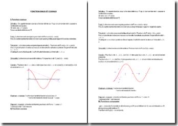 Fonction sinus et cosinus