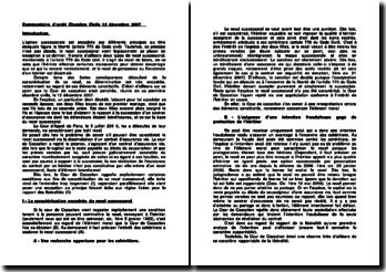 Commentaire d'arrêt de la Chambre civile de la Cour de cassation du 12 décembre 2007 : le recel successoral