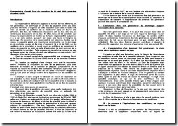 Commentaire d'arrêt de la Première Chambre civile de la Cour de cassation du 22 mai 2008 : la relation de causalité