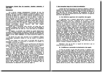 Commentaire d'arrêt de la Chambre criminelle de la Cour de cassation du 4 mars 2003 : les appels téléphoniques malveillants réitérés