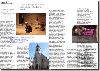 L'apprentissage de la mort chez Ionesco : Le Roi se meurt