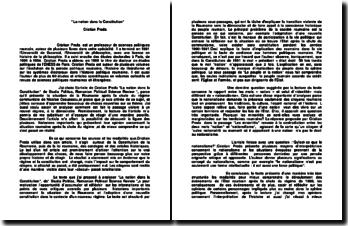 La nation dans la Constitution - Cristian Preda