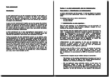 Les sources du droit administratif et l'ordre juridictionnel administratif
