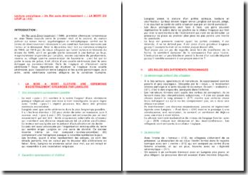Un Roi sans divertissement, page 143 - Jean Giono : la mort du loup