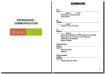 Communication autour d'une entreprise de vente de meubles écologiques, Bureau Deco