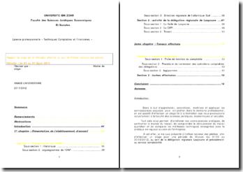 Rapport de stage effectué au service comptabilité de la délégation régionale Laayoune de l'Office national des Pêches au Maroc