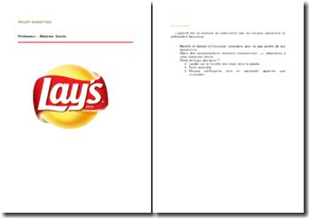 Le marché de l'apéritif : les chips Lay's