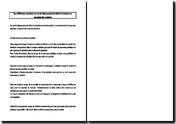 Les différentes sanctions en cas de dépassement du délai d'exécution en passation des contrats