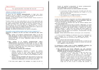 Droit du travail : la formation et le déroulement de la relation de travail