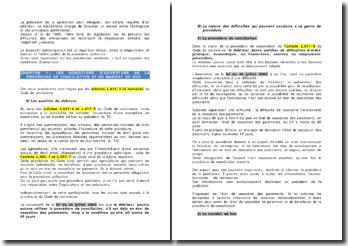 Les conditions d'ouverture de la procédure de conciliation et du mandant ad hoc