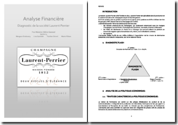 Diagnostic de la société Laurent Perrier