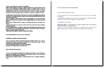 Commentaire d'arrêt de la Cour de cassation du 29 juin 2010 : la faute lourde