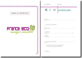 Rapport de projet de prospection au sein de l'entreprise France Eco énergie