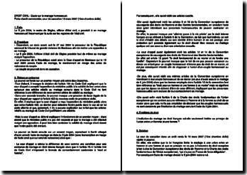 Fiche d'arrêt de la 1ère Chambre civile de la Cour de cassation du 13 mars 2007 : le mariage homosexuel