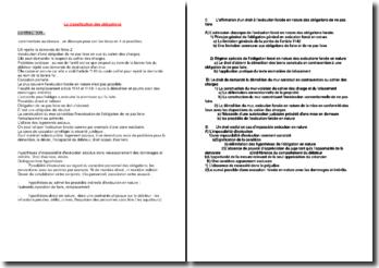 La classification des obligations
