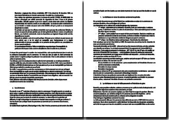 Sanctions des incompatibilités, échéances et immatriculation