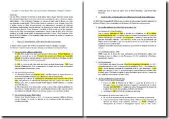Gouverner la France depuis 1946 : Etat, Gouvernement, Administration, héritage et évolutions