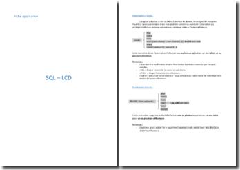 Le langage SQL - LCD