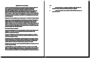 Régulation de la transcription