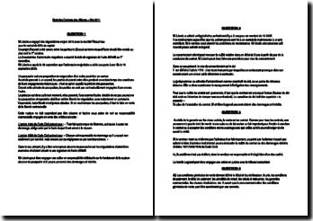 Droit des Contrats des Affaires -