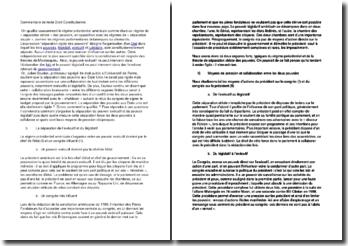 Commentaire de texte Droit Constitutionnel