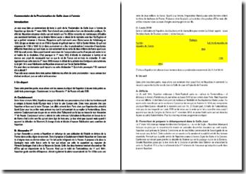 Commentaire de la Proclamation de Golfe Juan à l'armée