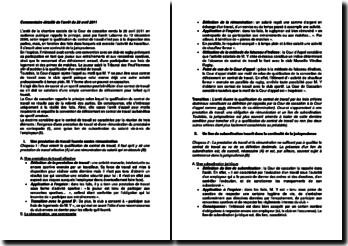 Commentaire d'arrêt de la Chambre sociale de la Cour de cassation du 28 avril 2011 : la qualification du contrat de travail
