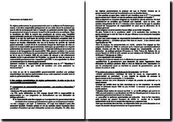 Commentaire de l'article 49 de la Constitution